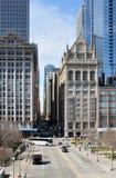 chicago gata Arkivfoto