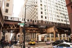 Chicago gata Royaltyfri Fotografi