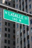 Chicago gata royaltyfri bild