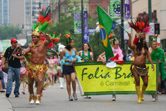Chicago Gay parade by brazil costumes stock image