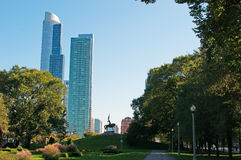 Chicago: General John Logan Memorial statue in Grant Park on September 22, 2014 Stock Photography