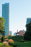 Chicago: general John Logan Memorial statue in Grant Park on September 22, 2014 Royalty Free Stock Images