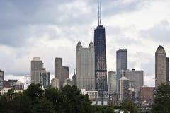 Chicago gesehen von der Westseite Stockbilder