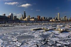 Chicago ghiacciato immagini stock