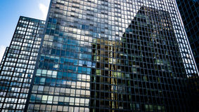 Chicago glass and steel - landscape mode Royalty Free Stock Photography
