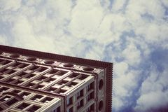 Chicago Gothic Architecture Against Blue Skies Stock Photo