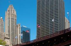 Chicago, grande città negli Stati Uniti Fotografie Stock Libere da Diritti