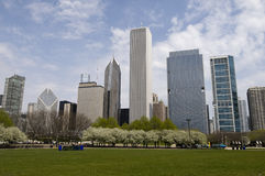 Chicago from Grant Park Stock Photo