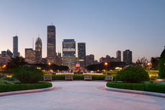 Chicago Grant Park. Image of Grant Park Chicago with Buckingham Fountain in the middle royalty free stock photography