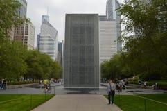 Chicago Grant Park Waterfall Monolith Fotografía de archivo