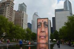 Chicago Grant Park Waterfall Monolith Images libres de droits