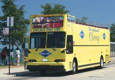 Chicago Gray Line Tour Bus Fotografía de archivo libre de regalías