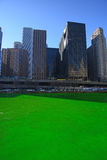 Chicago Green River Royaltyfria Bilder