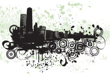 Chicago Grunge Royalty Free Stock Photography
