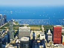 Chicago-Hafen und Michigansee Lizenzfreies Stockfoto