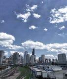 Chicago halsted spår Royaltyfria Foton