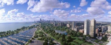 chicago hamn arkivbild