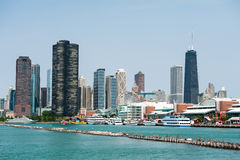 Chicago hamn Royaltyfria Bilder
