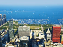 Chicago Harbor and Lake Michigan Royalty Free Stock Photo
