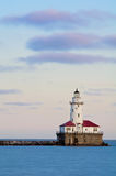 Chicago harbor lighthouse Stock Photos