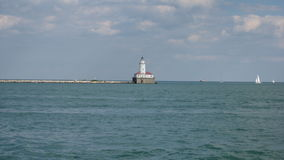Chicago Harbor Lighthouse Royalty Free Stock Photos
