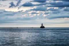 Lighthouse on the lake Stock Image