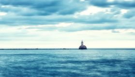 Lighthouse on the lake Royalty Free Stock Photography