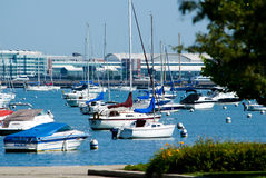 Chicago harbor and navy pier Stock Images
