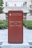 Chicago Harris School da política de interesse público Foto de Stock Royalty Free