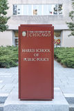 Chicago Harris School di ordine pubblico Fotografia Stock Libera da Diritti