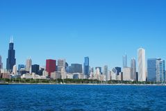 Chicago heartland view. Topview on chicago heartland scene Royalty Free Stock Image