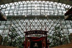 Chicago - het Plafond van de Pijler van de Marine Royalty-vrije Stock Foto