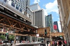 Chicago hief Trein op Royalty-vrije Stock Afbeelding