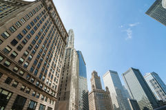 Chicago highrise buildings Royalty Free Stock Images