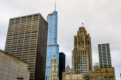 Chicago Highrise buildings Stock Photos