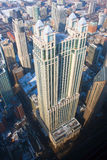 Chicago Highrises on the Gold Coast. Areal view of tall buildings along Chicago's magnificant mile Royalty Free Stock Image