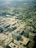 Chicago highway  Interchange ariel view Royalty Free Stock Image