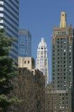 Chicago historiska byggnader Arkivfoton