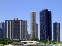 chicago horisont royaltyfri foto