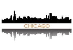 chicago horisont royaltyfri illustrationer