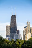 Chicago horisont, Illinois, USA Arkivbilder