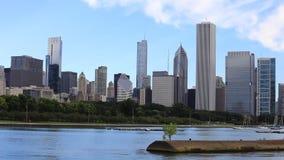 Chicago horisont och hamn arkivfilmer