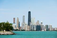 Chicago horisont sikt för sjö Royaltyfri Bild