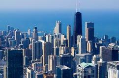 Chicago horisont - USA Fotografering för Bildbyråer
