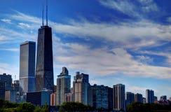 chicago horisont v Arkivbild