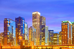 Chicago horizon de l'Illinois, Etats-Unis Photos stock