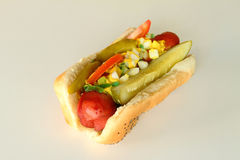 Chicago Hot Dog Stock Photography