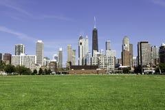 Chicago i sen eftermiddag Arkivbild