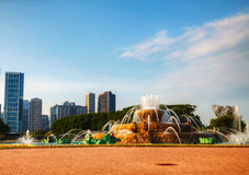 Chicago i stadens centrum cityscape Arkivbild