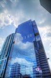 chicago i stadens centrum illinois skyskrapor Arkivbilder